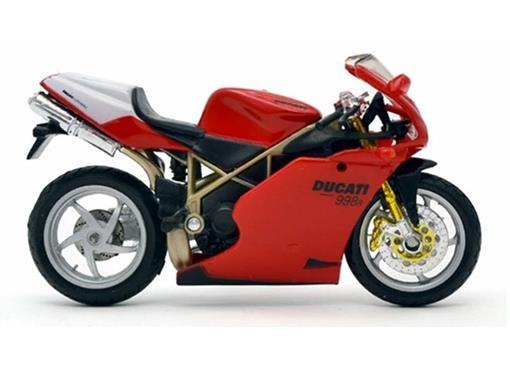 Bburago 1:18 ducati 998r motocicleta