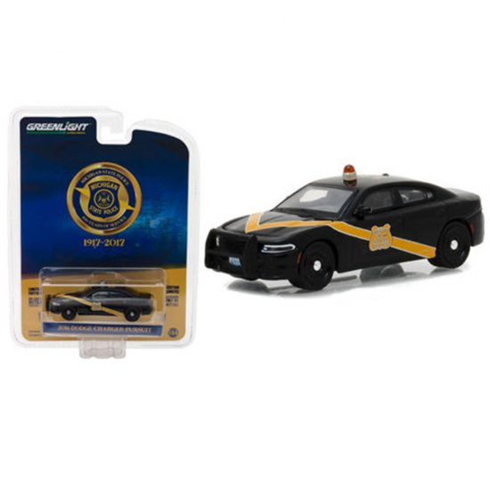 Miniatura Carro Dodge Charger Pursuit (2016) - Michigan State Police 100 Years Service - 1:64 - Greenlight