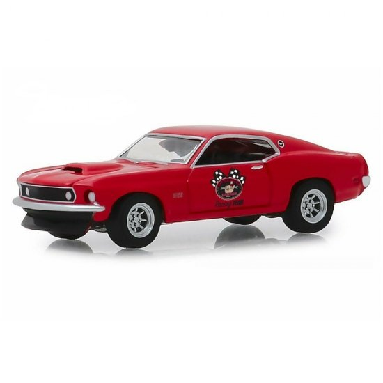 Miniatura Carro Ford Mustang Boss 429 (1969) - The Busted Knuckle Garage - Hollywood - Série 1 - 1:64 - Greenlight