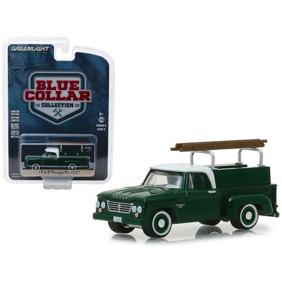 Miniatura Picape Dodge D-100 (1963) - Blue Collar Collection - Série 5 - 1:64 - Greenlight