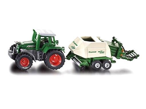Fendt: Vario Favorit 926 c/ Enfardadeira Krone Big Pack - 1:72