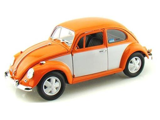 Miniatura Carro Volkswagen Fusca (1967) - Retro Paint Scheme - 1:18 - Greenlight