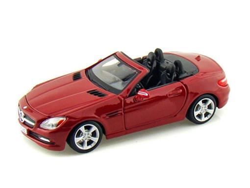 Miniatura Carro Mercedes Benz SLK Class   Vermelha   1:24   Maisto