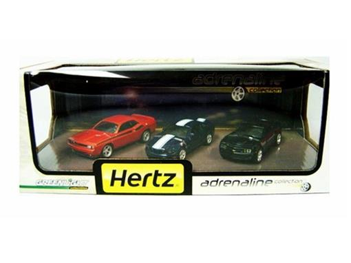 Set: Chevrolet / Ford / Dodge - Hertz Adrenaline - 1:64