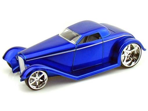Ford: Coupe (1932) - Azul - 1:24