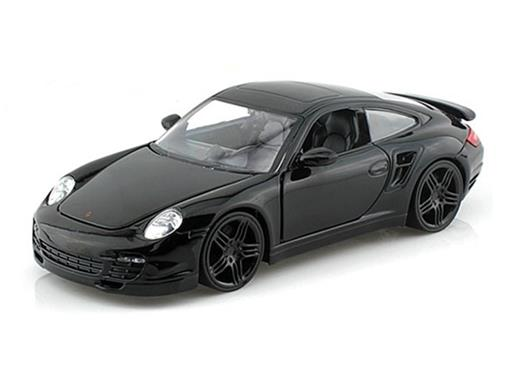 Porsche: 911 Turbo - Preto - Bigtime Kustoms - 1:24