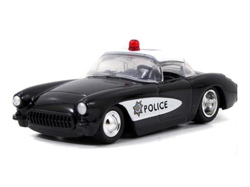 Chevrolet: Corvette Policia - Heat Wave 3 (1957) Preto - 1:64