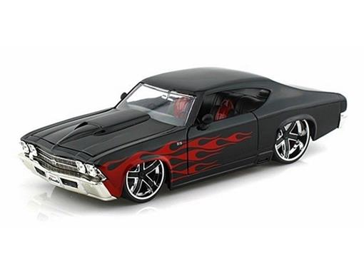 Chevrolet: Chevelle SS (1969) - Preto - Bigtime Muscle - 1:24
