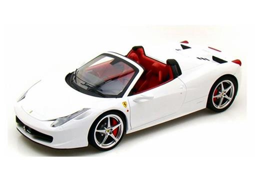 Miniatura Carro Ferrari 458 Spider - Branca - 1:18 - Hot Wheels Elite