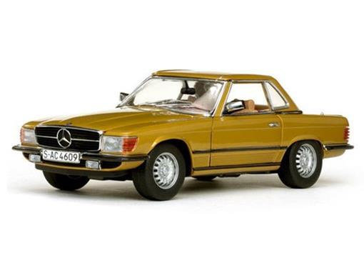 Mercedes-Benz: 350SL Hard Top Coupe (1977) - Dourado - 1:18 - Sunstar