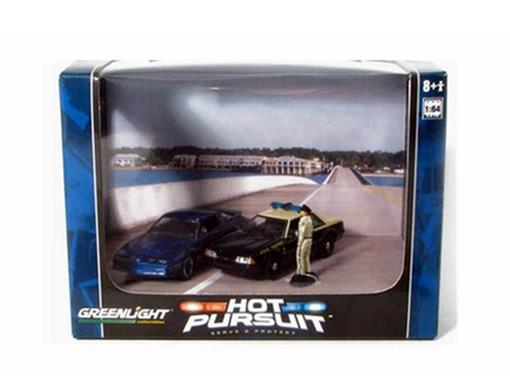 Diorama: Ford Mustang / Pontiac Trans Am - Hot Pursuit - 1:64