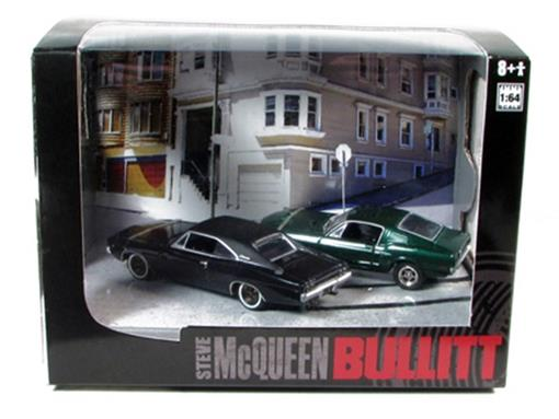 Diorama: Bullitt Series 1 - Ford Mustang e Dodge Charger (1968) - 1:64