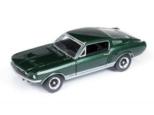 Miniatura Carro Ford Mustang GT (1967) - Verde - Vintage Muscle - 1:64 - Auto World