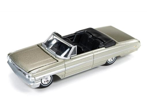 Ford: Galaxie 500XL Conversível (1964) - Champagne - Vintage Muscle - 1:64