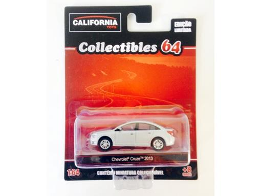 Miniatura Carro Chevrolet Cruze (2013) - Cinza - California Toys - 1:64 - Greenlight
