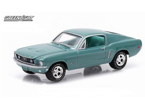 Miniatura Carro Ford Mustang GT (1968) - Verde - GL Muscle - Série 12 - 1:64 - Greenlight