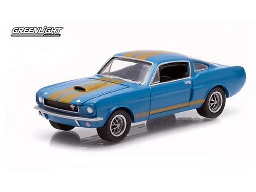 Miniatura Carro Ford Shelby GT 350H (1966) - Azul - GL Muscle - Série 12 - 1:64 - Greenlight