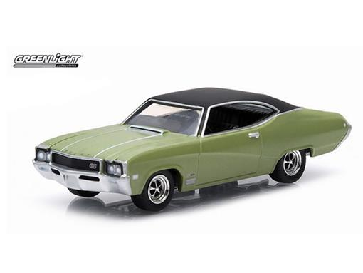Buick: GS 400 (1968) - Verde - GL Muscle - Série 12 - 1:64 - Greenlight