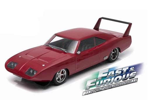 Miniatura Carro Dodge Charger Daytona Custom Doms (1969) Velozes e Furiosos 6 - 1:18 - Greenlight