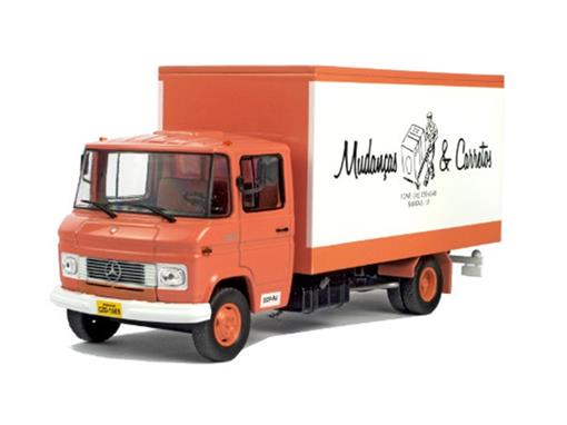 miniatura caminhão mercedes benz 608 d 1 43 ixo