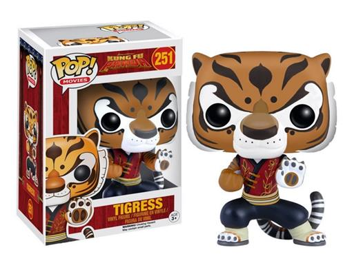 Boneco Tigress - Kung Fu Panda - Pop! Movies 251 - Funko