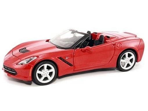Miniatura Carro Chevrolet Corvette Stingray (2014)   Vermelho   1:24    Maisto