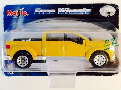 Ford: Mighty F-350 - Free Wheels - Amarelo - 1:37 - Maisto