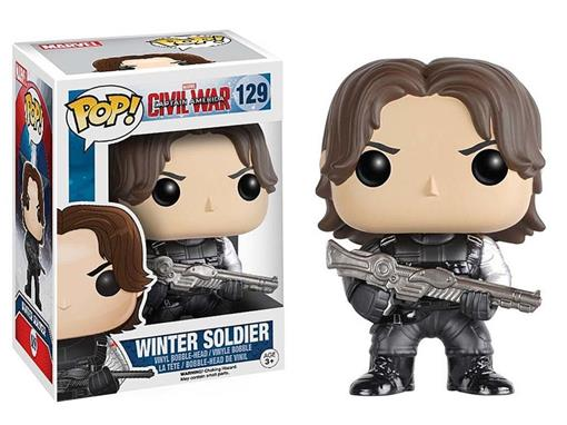 Boneco Winter Soldier - Capitão América Guerra Civil - Pop! Marvel 129 - Funko