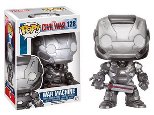 Boneco War Machine - Capitão América Guerra Civil - Pop! Marvel 128 - Funko