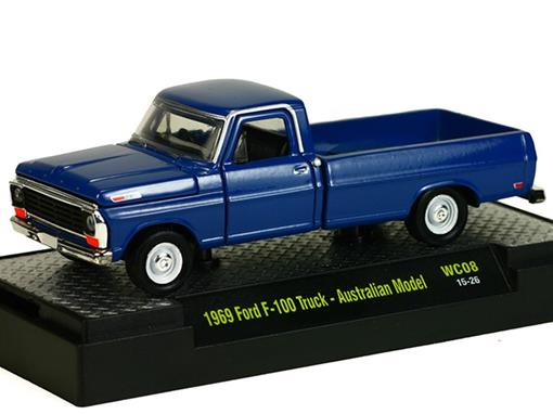Ford: F-100 Pickup Australian Model (1969) - Azul - 1:64 - M2 Machines