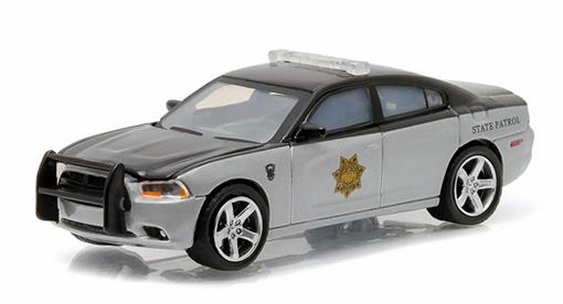 Miniatura Carro Dodge Charger (2012) - Polícia - Hot Pursuit - Série 18 - 1:64 - Greenlight