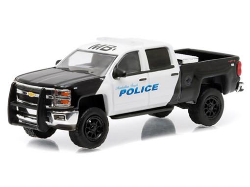 Chevrolet: Silverado (2015) - Polícia - Hot Pursuit - Série 18 - 1:64 - Greenlight