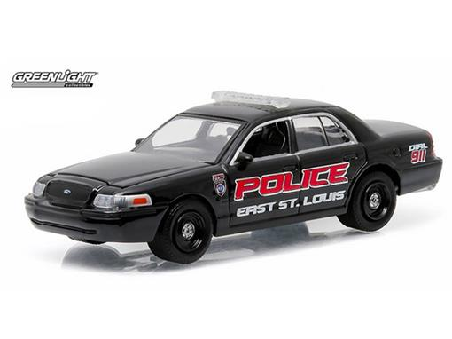 Ford: Crown Victoria Police Interceptor (2008) - Polícia - Hot Pursuit - Série 18 - 1:64 - Greenlight