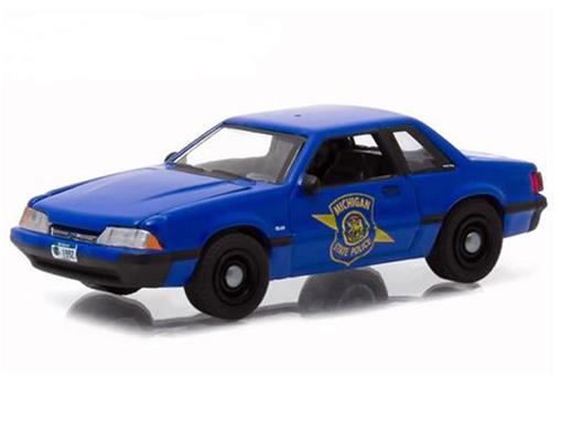 Miniatura Carro Ford Mustang (1992) - Hot Pursuit - Série 16 - 1:64 - Greenlight