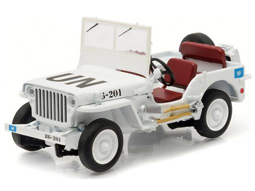 Jeep: Willys - Branco - United Nations - 1:43 - Greenlight
