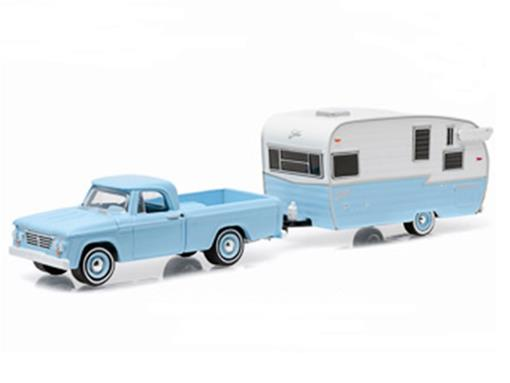 Dodge: D-100 c/ Shasta Airflyte (1963) - Hitch & Tow - Série 6 - 1:64 - Greenlight