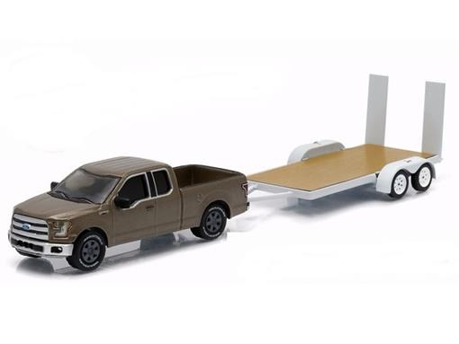 Ford: F-150 c/  Flatbed Trailer (2015) - Hitch & Tow - Série 6 - 1:64 - Greenlight