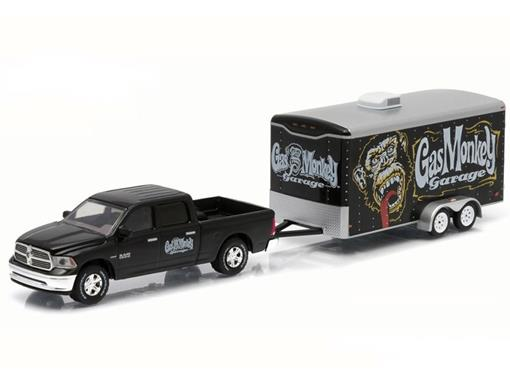 Dodge Ram: 1500 c/ Car Hauler (2014) - Gas Monkey Garage - Série 5 - 1:64 - Greenlight