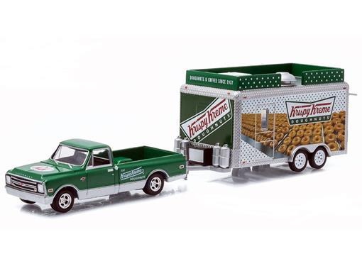 Chevrolet: C10 c/ Trailer (1968) - Krispy Kreme - 1:64 - Greenlight