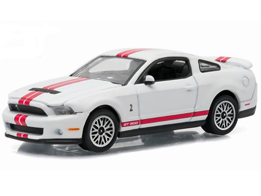 Miniatura Carro Ford Shelby GT-500 (2012) - Branco - GL Muscle - Série 15 - 1:64 - Greenlight