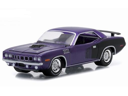 Plymouth: Hemi Cuda (1971) - Roxo - GL Muscle - Série 14 - 1:64 - Greenlight