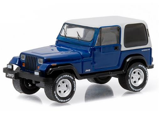 Jeep: Wrangler (1990) - Country Roads - Azul - 1:64 - Greenlight