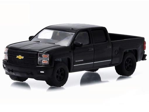 Chevrolet: Silverado 1500 Pickup (2015) - Black Bandit - Série 13 - 1:64 - Greenlight