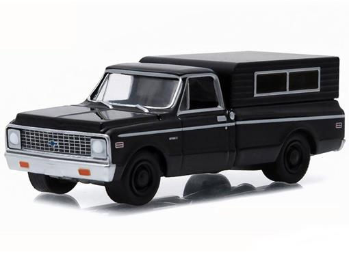 Chevrolet: C-10 (1972) - Black Bandit - Série 13 - 1:64 - Greenlight