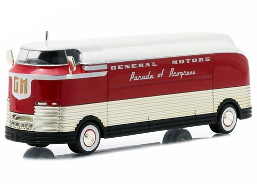 Ônibus General Motors Futurliner (1940) Parade of Progress - 1:64 - Greenlight