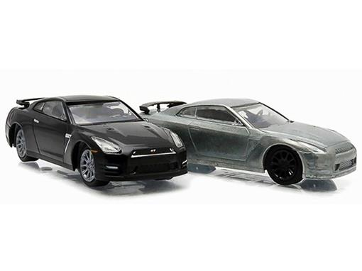 Set: Nissan GT-R R35 (2014) - Firstcut - 1:64 - Greenlight