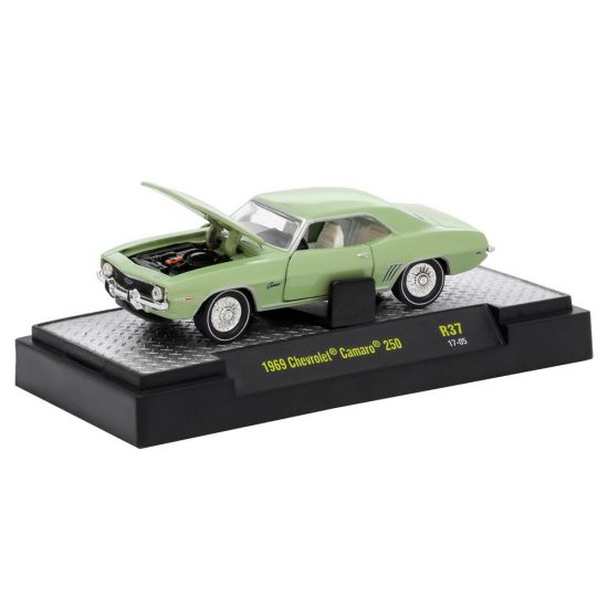 Miniatura Carro Chevrolet Camaro 250 (1969) Verde - Detroit Muscle - 1:64 - M2 Machines