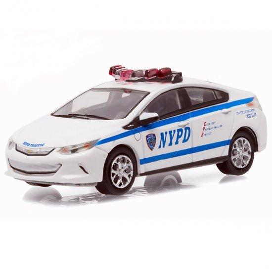 Chevrolet Volt 2016: Chevy Volt Polícia Hot Pursuit 1:64 Greenlight Minimundi