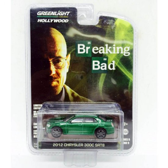 Chrysler: 300C SRT8 (2012) - Breaking Bad - Hollywood - Série 9 - 1:64 - Greenlight (Chase / Green Machine)