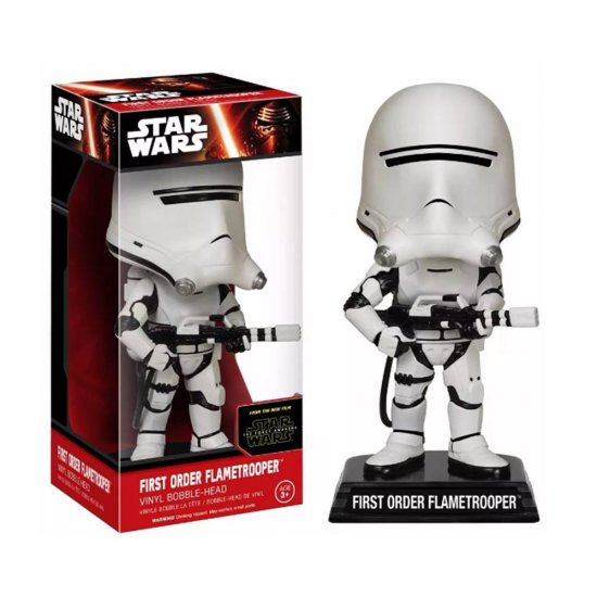 Boneco First Order Flametrooper - Star Wars - Bobble Head - Funko